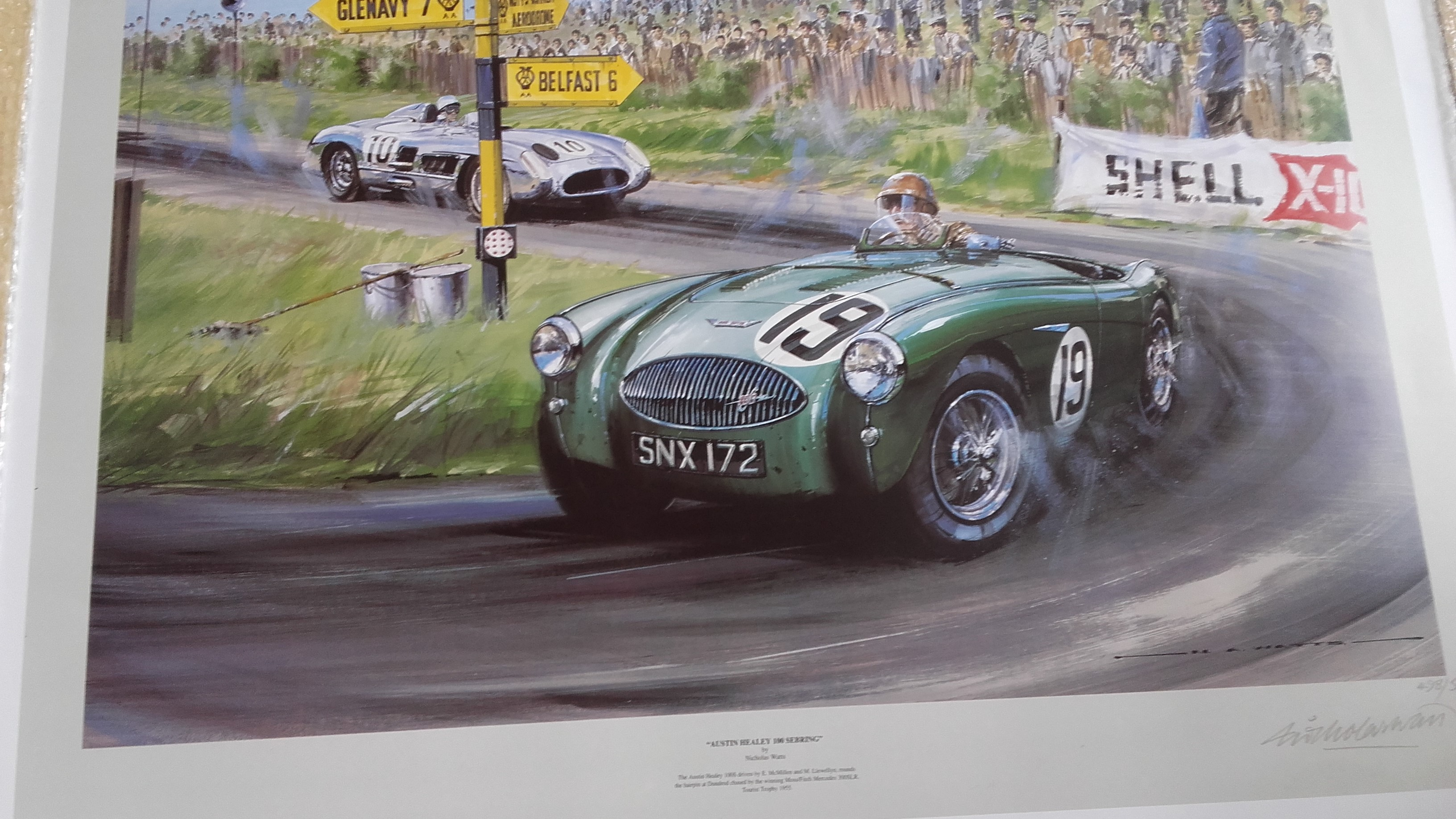Austin Healey 100 Sebring poster by Watts