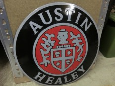Austin Healey sign - emaille Garagebord 42cm