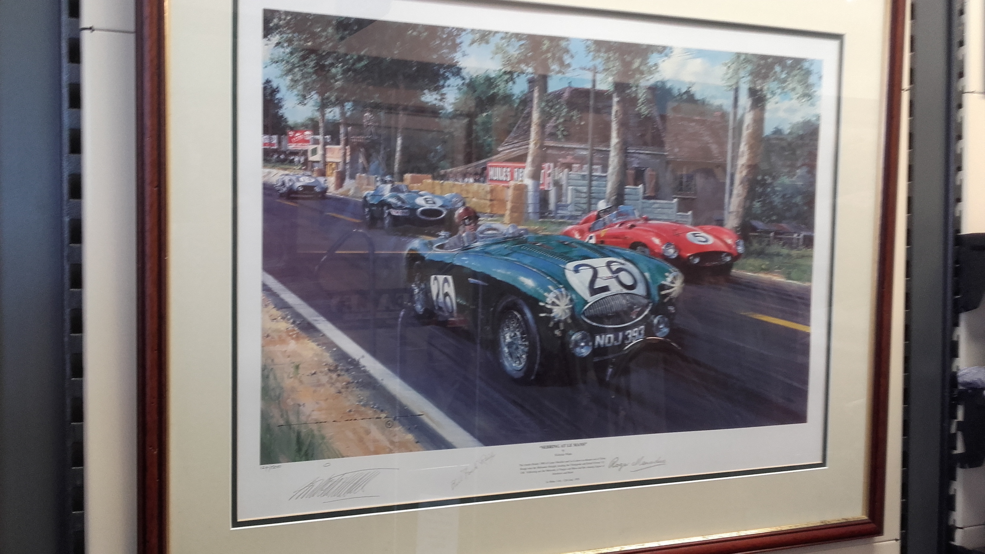 Austin Healey at Le Mans poster by Watts