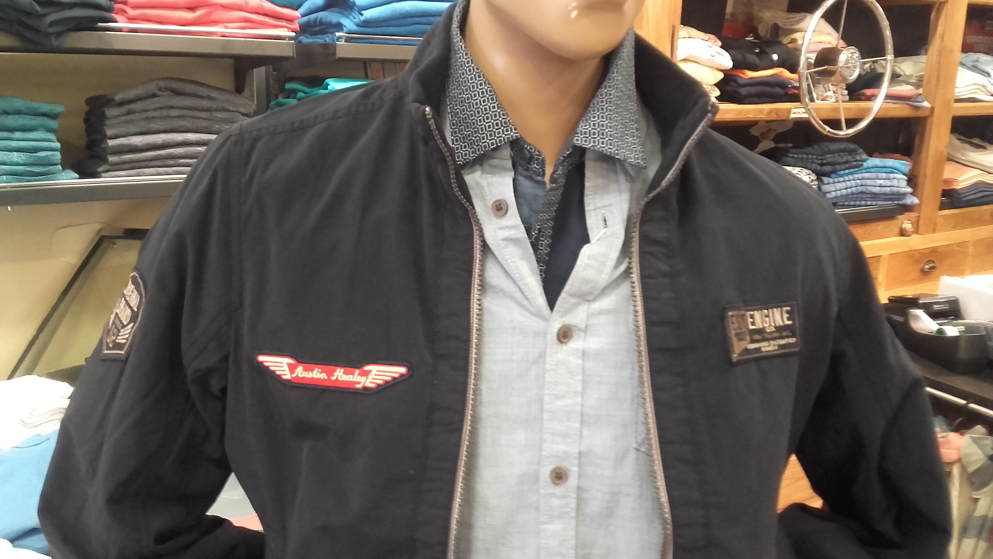 Austin Healey Engine jacket cotton