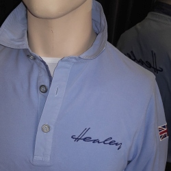 Healey Polo - Long Sleeve - Blue